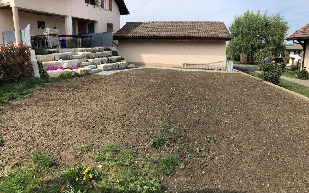 Remise en état d'un jardin